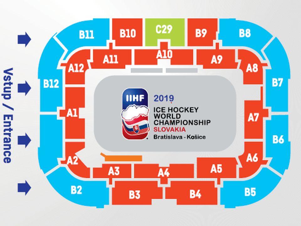 Eishockey Stadionplan