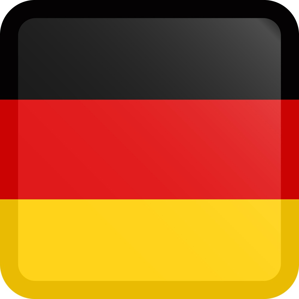 Germany Flag Button Square Medium