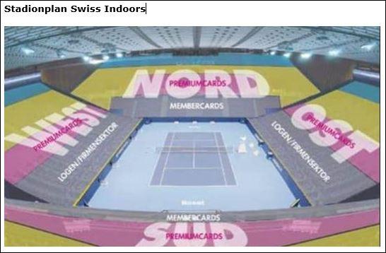 Stadionplan Swiss Indoors